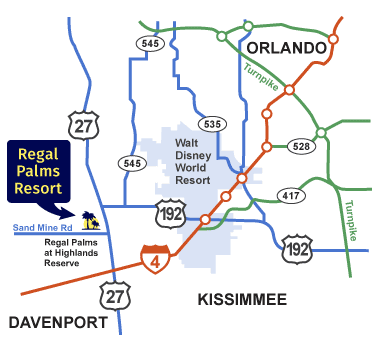 Regal Palms is located near DisneyWorld and other great Orlando attractions